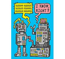 Robot Talk Photographic Print