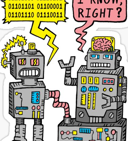 Robot Talk Sticker