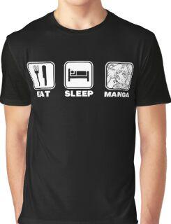 Eat Sleep Manga (Sailor Moon version) Graphic T-Shirt
