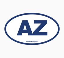 Arizona AZ Euro Oval BLUE by USAswagg
