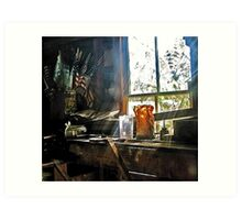 Through The Toolshed Window -- Peacham, Vermont Art Print