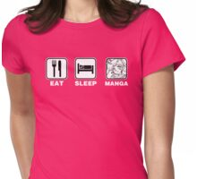 Eat Sleep Manga (Sailor Moon version) Womens Fitted T-Shirt