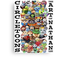 CircleToon Collage Canvas Print