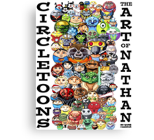 CircleToon Collage Canvas Print