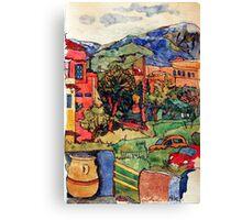Crete island.Georgiopoli.Hotel Fereniki. Canvas Print