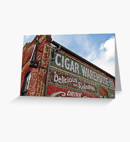 Cigar Warehouse Greeting Card