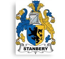 Stanbery Coat of Arms (English) Canvas Print