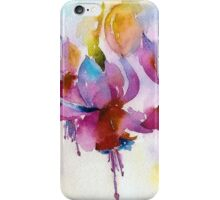 Fuchsia Watercolor II iPhone Case/Skin