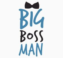 BIG Boss man with a Black Bow Tie Kids Tee