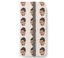 ugly crying kim kardashian iPhone Wallet/Case/Skin