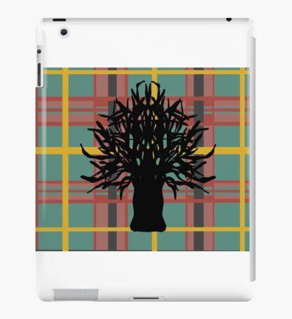 rural check tree iPad Case/Skin