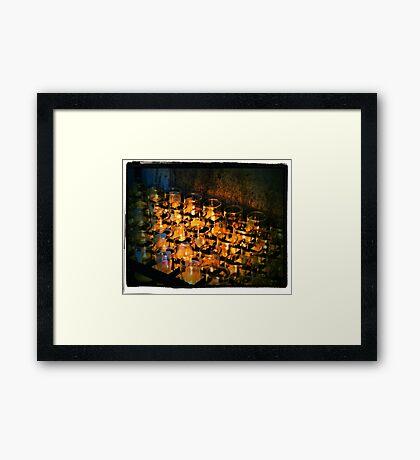 San Xavier Candles Framed Print