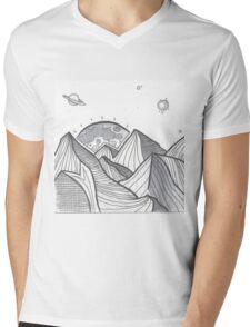 Mountain Range Mens V-Neck T-Shirt