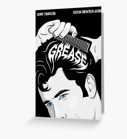 Grease Movie Poster Greeting Card