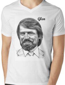 Glen Campbell Mens V-Neck T-Shirt