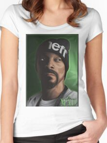 SNOOP DOGG Women's Fitted Scoop T-Shirt