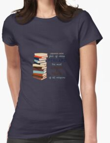 Libraries were full of Ideas Womens Fitted T-Shirt