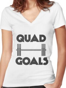 Quad Goals Women's Fitted V-Neck T-Shirt
