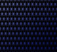 Multi spiders deep blue on black by julesdesigns