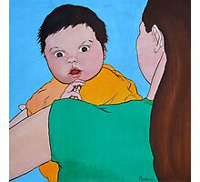 Discover the World (Baby and Mother) Photographic Print