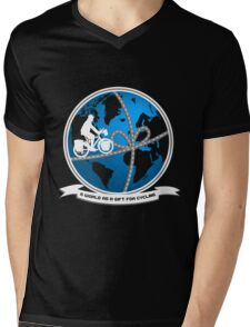 A world as a gift for cycling Mens V-Neck T-Shirt