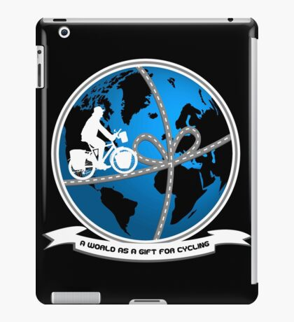 A world as a gift for cycling iPad Case/Skin