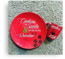 Cookies for Santa plate! Canvas Print