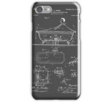 Rocking Oscillating Bathtub Patent Engineering Drawing iPhone Case/Skin