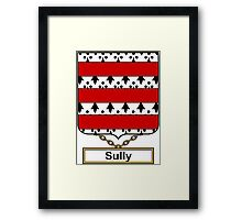 Sully Coat of Arms (English) Framed Print