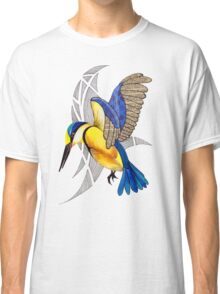 Sacred Kingfisher in flight Classic T-Shirt
