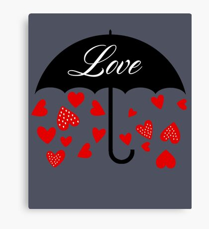 Love Cute Valentines Day Canvas Print