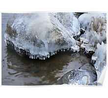 Ice covered rocks Poster