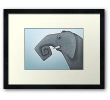 Stupid elephant Framed Print