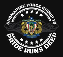 Cool US Submarine Force Group 10 'Pride Runs Deep' T-Shirt by Albany Retro