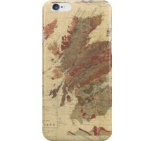 Vintage Geological Map of Scotland iPhone Case/Skin