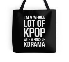 A LOT OF KPOP - BLACK Tote Bag