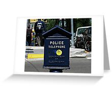 Police Telephone © Greeting Card