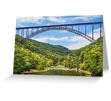 West Virginia's New River Gorge Bridge Greeting Card