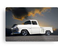 1956 Chevrolet Custom Pickup 4 Metal Print