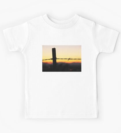 Old 32 Barbed Wire Fence Kids Tee