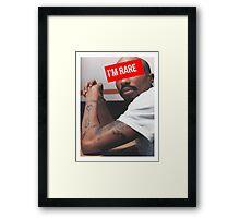 """Tupac """"Im Rare"""" Supreme Framed Print"""
