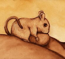 Mouse in Watercolor by Katrina Larock