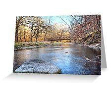 Bridge Over Maynes Creek Greeting Card