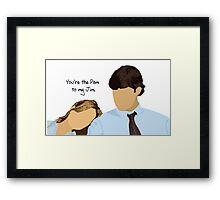 Custom - Pam to my Jim - - Blue Framed Print