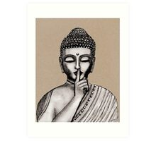 Shh ... do not disturb - Buddha - New Art Print