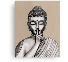 Shh ... do not disturb - Buddha - New Metal Print