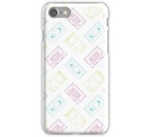 Gameboy, Cassette, and VHS outline (white) iPhone Case/Skin