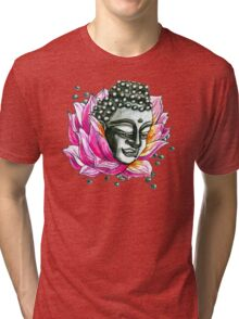 Lotus Buddha  Tri-blend T-Shirt