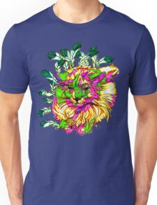 Stained Glass House Cat Trip Unisex T-Shirt