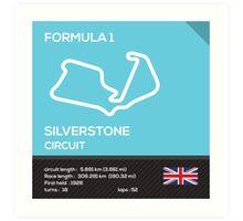 Silverstone circuit Art Print